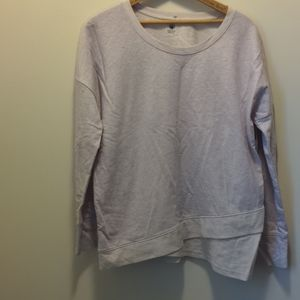 Gaiam M Tagless Neck Long Sleeve Two Toned Shirt
